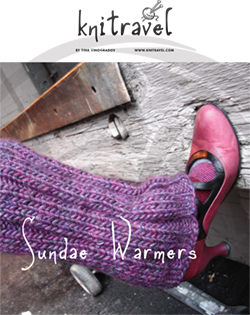 Sundae Warmers legwarmer knitting pattern by Haute Revel
